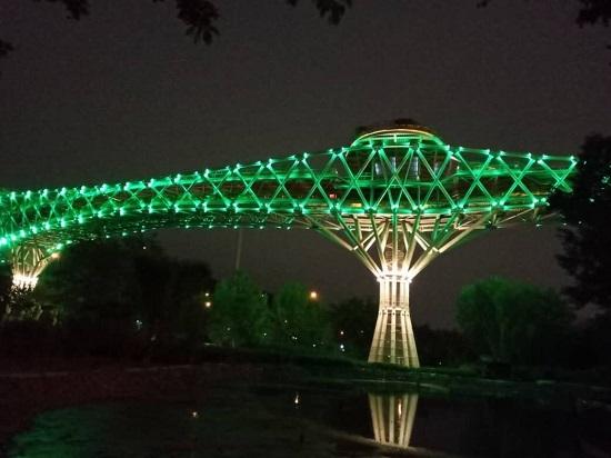 پل طبیعت تهران سبز شد