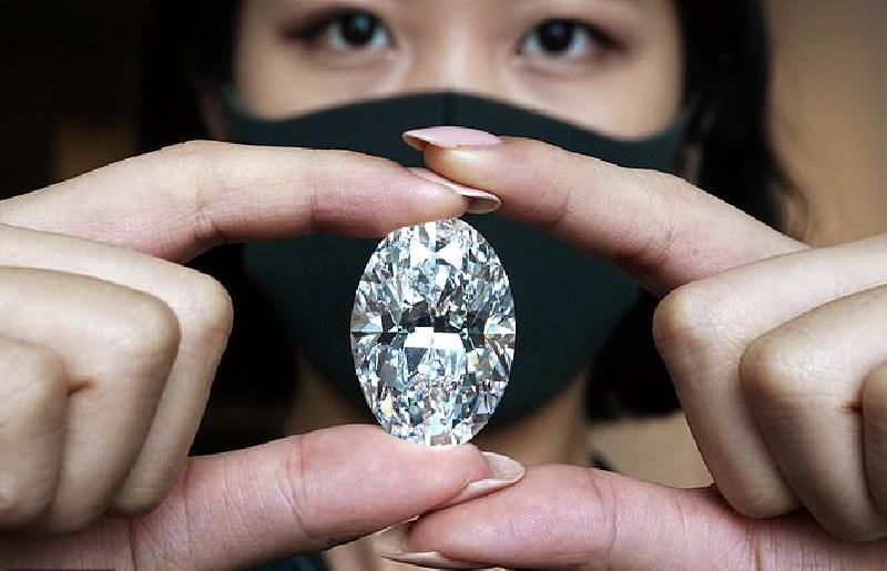 حراج الماس ۱۰۲ قیراطی نادر جهان در هنگ کنگ + عکس