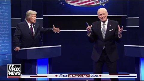 مناظره طنز جو بایدن و دونالد ترامپ با هنرنمایی بازیگر معروف