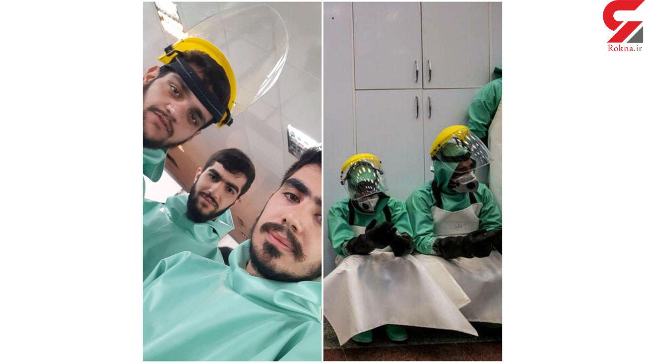 اقدام خداپسندانه ۳ جوان تهرانی در بهشت زهرا +عکس