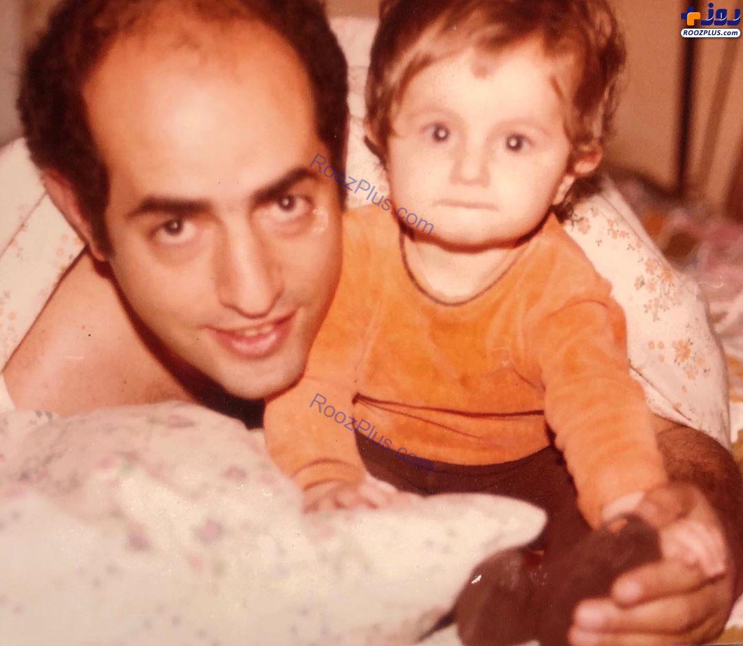 شقایق دهقان و پدرش در سال۵۸ +عکس