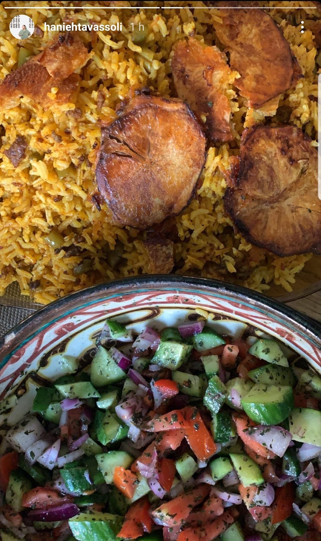 ناهار امروز هانیه توسلی با دستپخت خودش +عکس