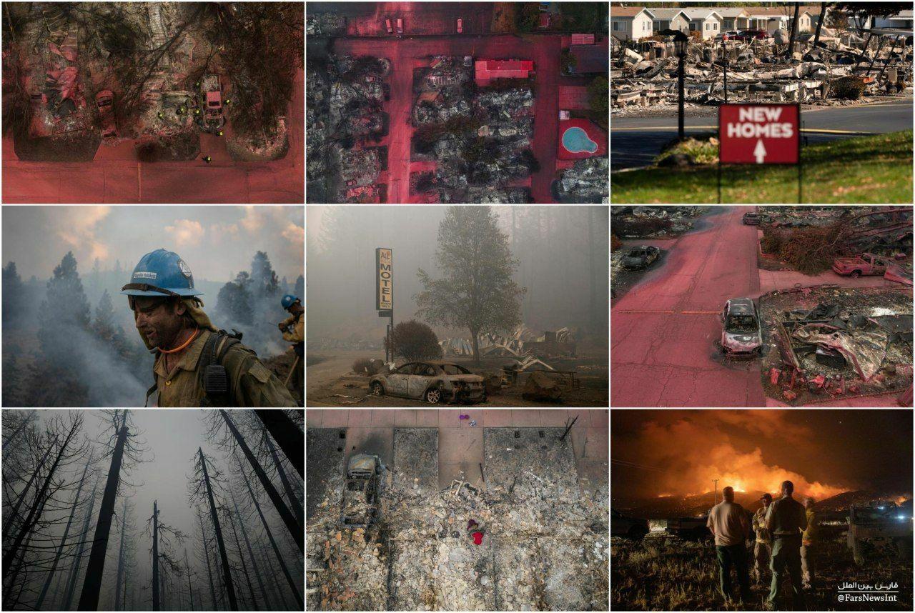 مناظر آخرالزمانی در «اورگان» آمریکا + عکس