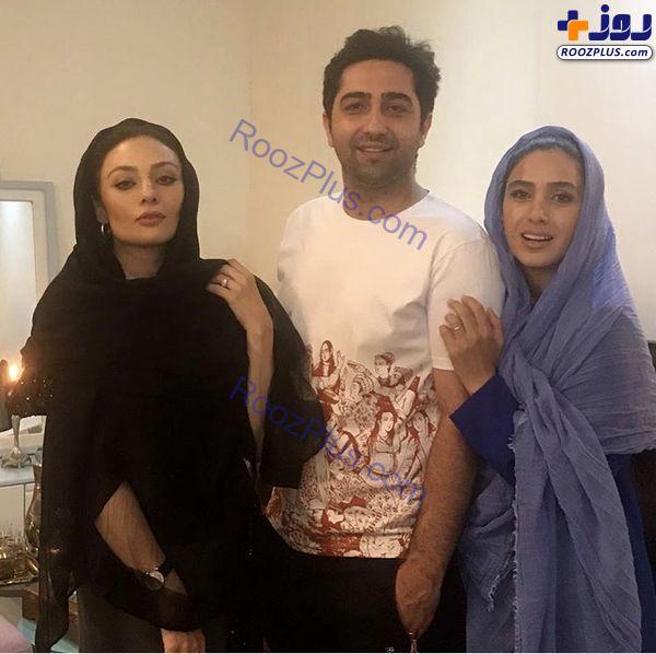یکتا ناصر در کنار علی سخنگو و همسرش + عکس