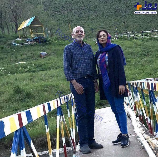 طبیعت گردی یکتا ناصر در کنار پدرش+عکس