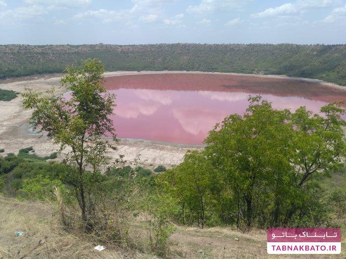 دلیل تغییر رنگ عجیب دریاچه 50 هزار ساله در هند