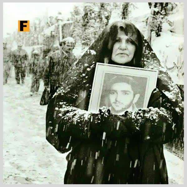 عکسی از مادر یک شهید که جهانی شد