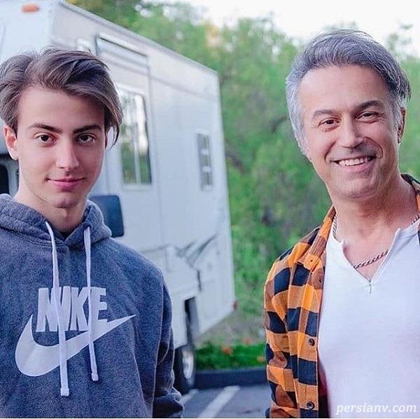 دانیال حکیمی در کنار پسرش +عکس
