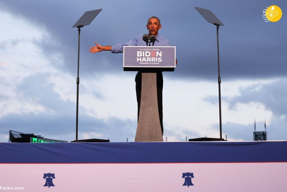 اولین حضور اوباما در گردهمایی انتخاباتی جو بایدن+عکس