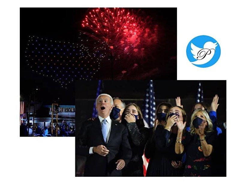 واکنش جالب جو بایدن و خانواده به آتش بازی +عکس