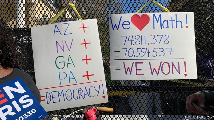 خیابانهای آمریکا پس از اعلام پیروزی جو بایدن