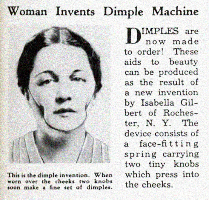 دستگاه شکل دهنده چال لپ؛ ۱۹۳۶