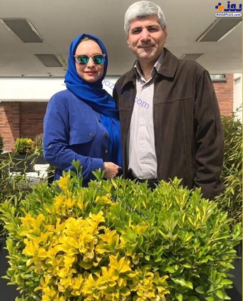تیپ مریم کاویانی در کنار همسرش+عکس