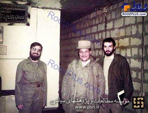 هاشمی رفسنجانی و حسن روحانی در لباس نظامی +عکس
