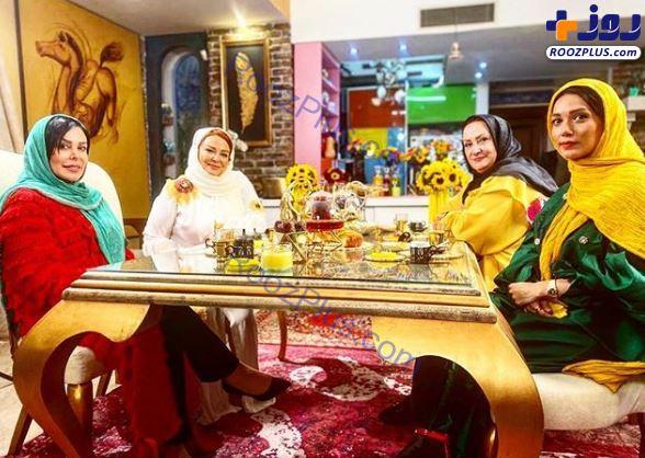 بازیگران زن در خانه لاکچری بهاره رهنما+عکس
