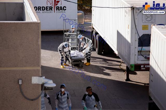 جا به جا کردن اجساد کرونایی توسط زندانیان+عکس