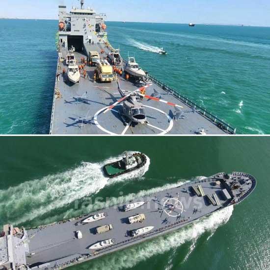 تصاویری از ناو اقیانوسپیمای جدید سپاه