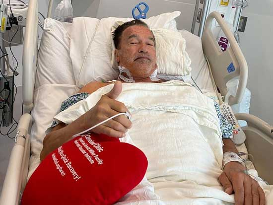 آرنولد شوارتزنگر زیر تیغ جراحی رفت+عکس