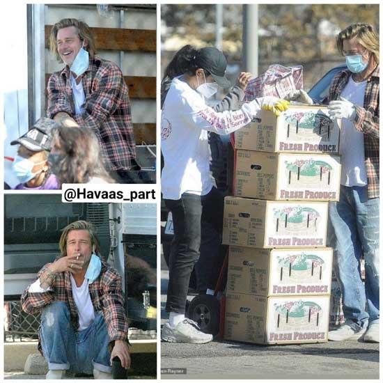 کمک برد پیت به بیخانمانها و فقرای لسآنجلس