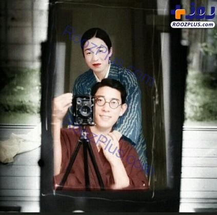 سلفی صد ساله رنگی شده زن و شوهر ژاپنی
