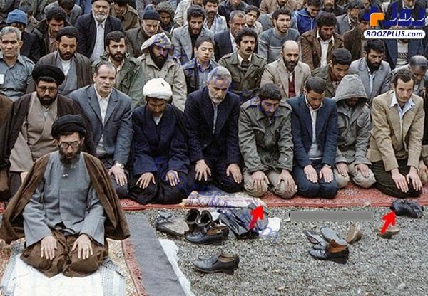 ادواردو آنیلی و سردار قاآنی در صف نماز جمعه +عکس