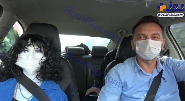 ابتکار یک راننده تاکسی برای مقابله با کرونا +عکس
