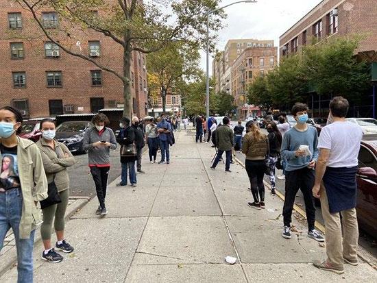 صف انتخابات زودهنگام در شهر نیویورک آمریکا+عکس