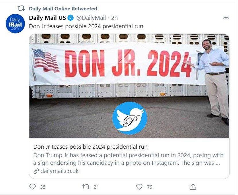 رویای پسر ترامپ برای انتخابات ۲۰۲۴ آمریکا +عکس