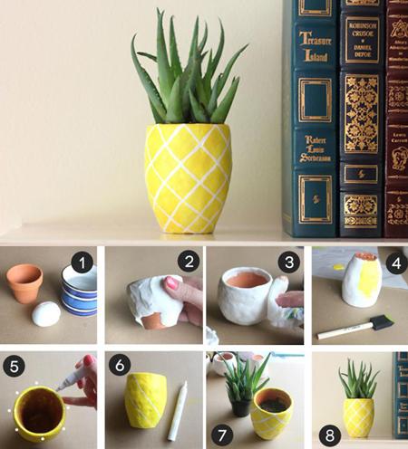 از تصاویر زیر برای تزیین گلدان هایتان ایده بگیرید.