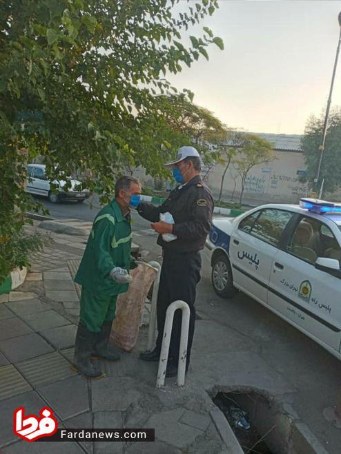 کار زیبای پلیس تهرانی +عکس