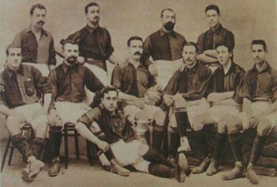 قدیمیترین عکس از تیم فوتبال بارسلونا