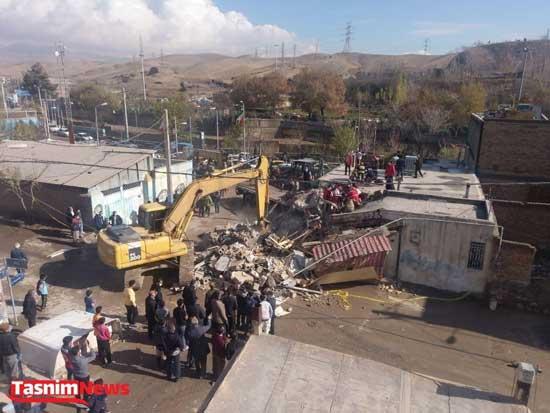 برخورد مرگبار کامیون با منزل مسکونی در پردیس+عکس