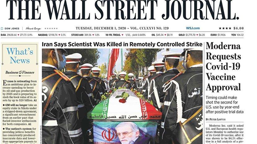 شهید فخریزاده تصویر یک روزنامه آمریکایی شد +عکس