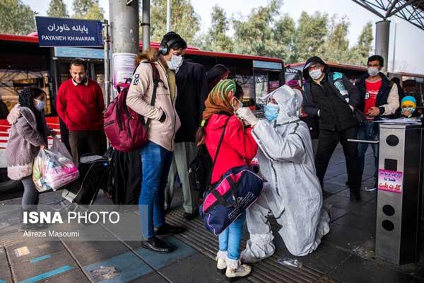 تصویری از پویش مردمی مقابله با کرونا در تهران
