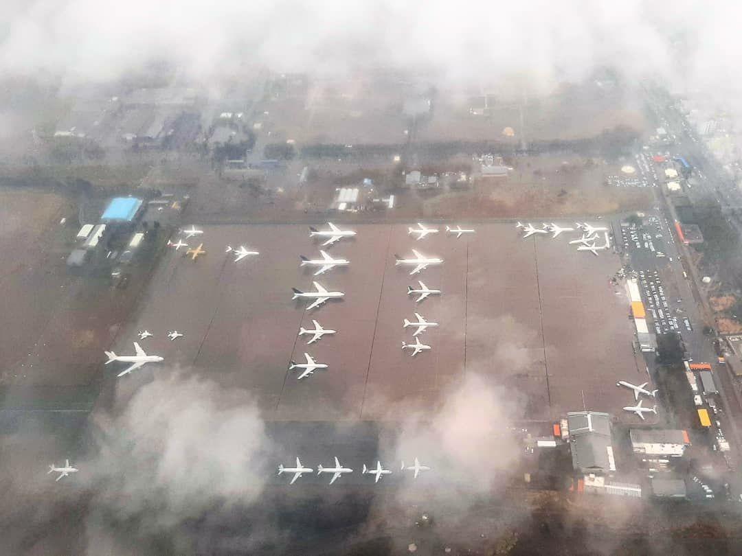 آشیانه هواپیما در فرودگاه مهرآباد تهران + عکس