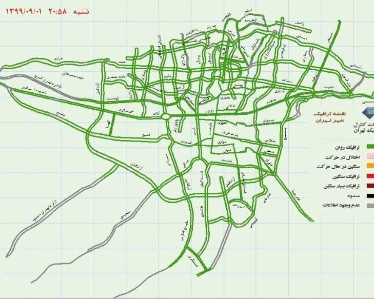 تهران بدون ترافیک +عکس