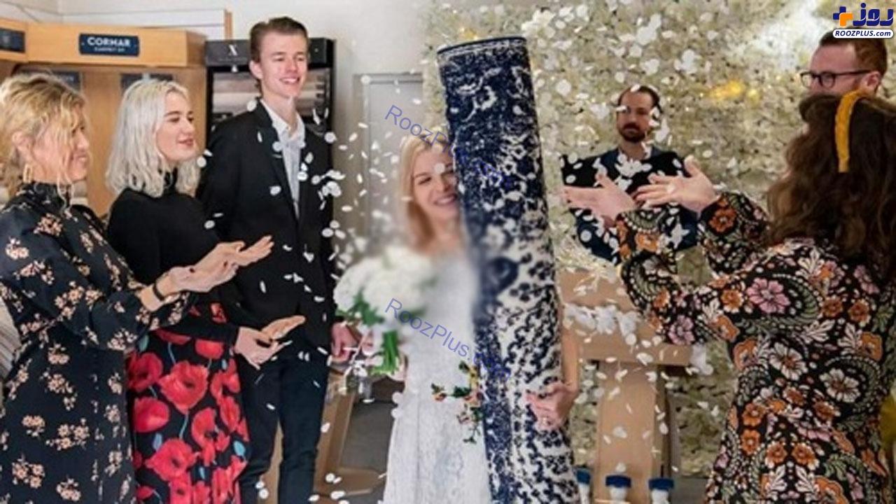دختری که با فرش خانه خود ازدواج کرد+عکس