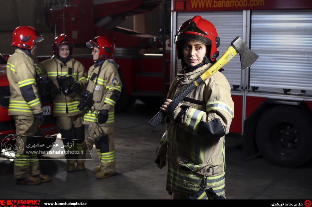 ایستگاه زنان آتش نشان در ایران+ عکس