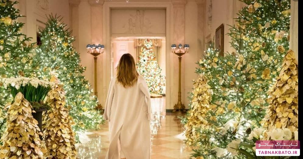 لباس و استایل رسمی یک شکل دونالد و ملانیا در کاخ سفید
