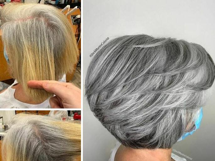 به جای ترس از میانسالگی و پنهان کردن و رنگ کردن موهای سپید، زیبایی آن را جلوه دهید!