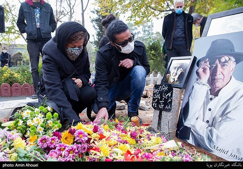 همسر اول و بازیگر معروف «کامبوزیا پرتوی» در مراسم خاکسپاری +عکس
