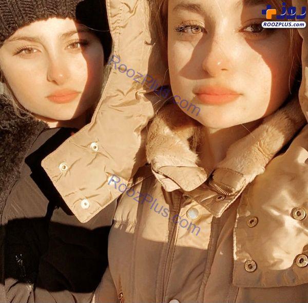 ظاهر جدید سارا و نیکا پایتخت در خارج از کشور + عکس
