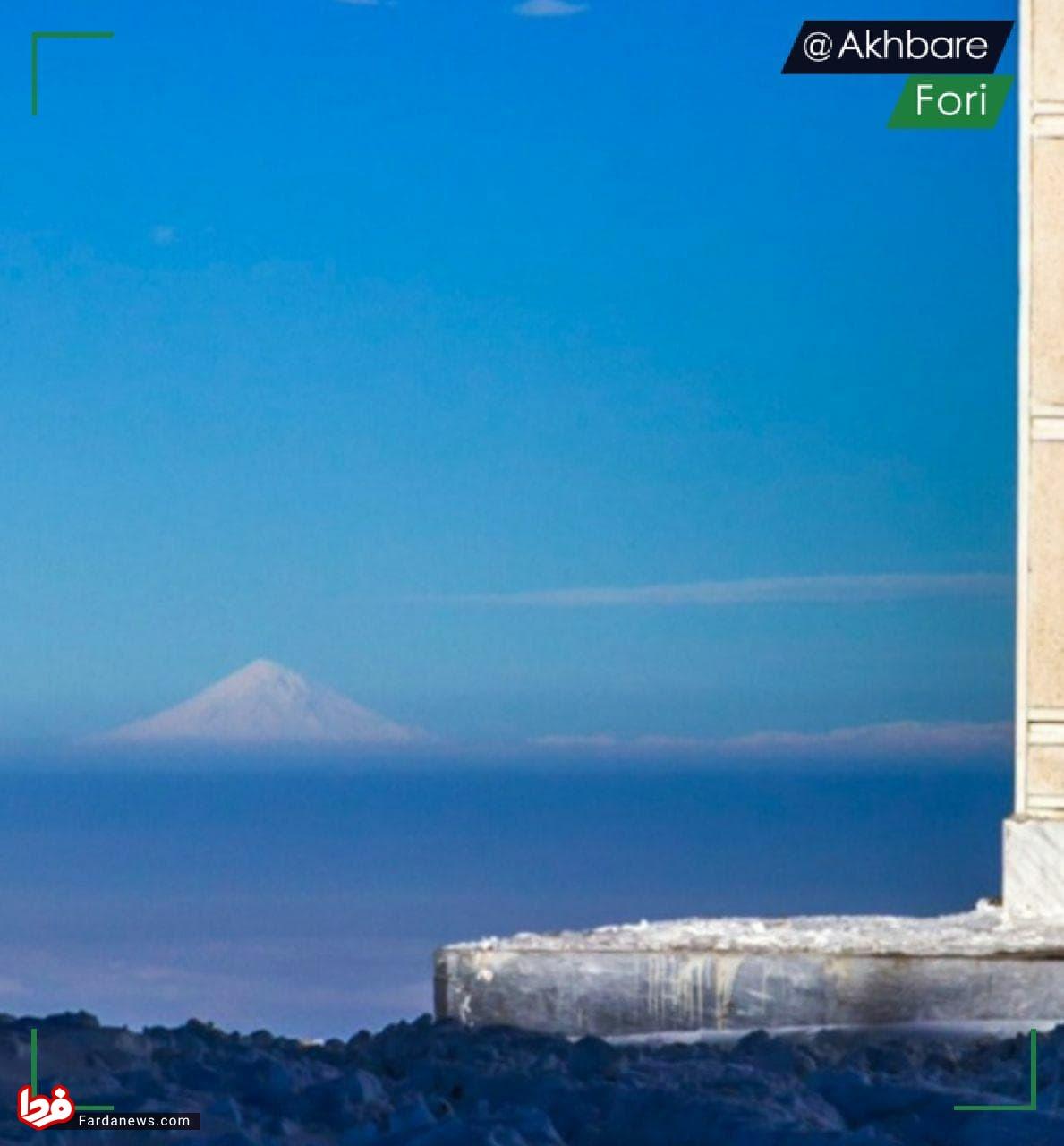 قله دماوند از کاشان دیده میشود +عکس