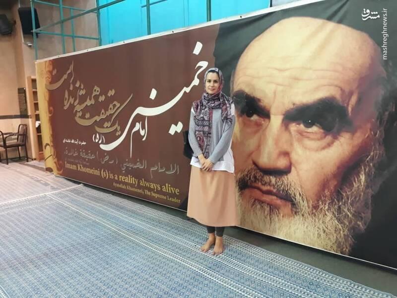 عکس یادگاری جاسوس صهیونیستی در حسینیه جماران