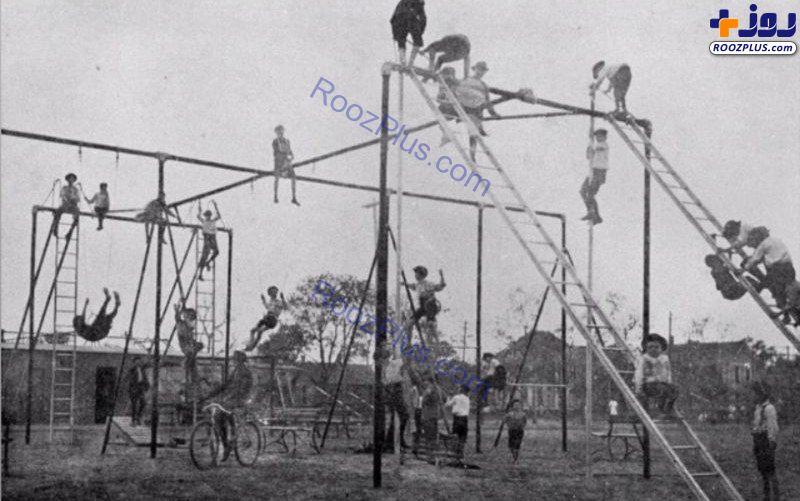 زمین بازی کودکان در تگزاس سال ۱۹۰۰ +عکس