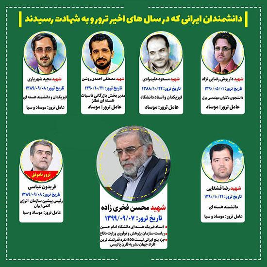 اینفوگرافی: کدام دانشمندان ایرانی ترور شدند؟