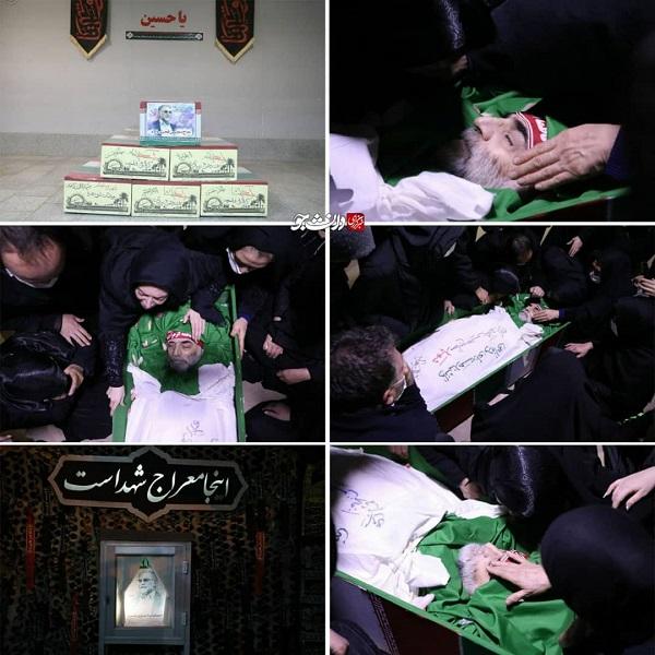 وداع خانواده شهید فخریزاده در معراج شهدا +عکس