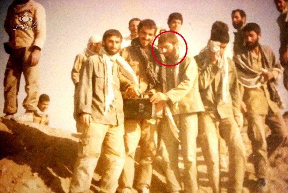 عکس منتشرنشده از شهید فخریزاده در دوران دفاع مقدس