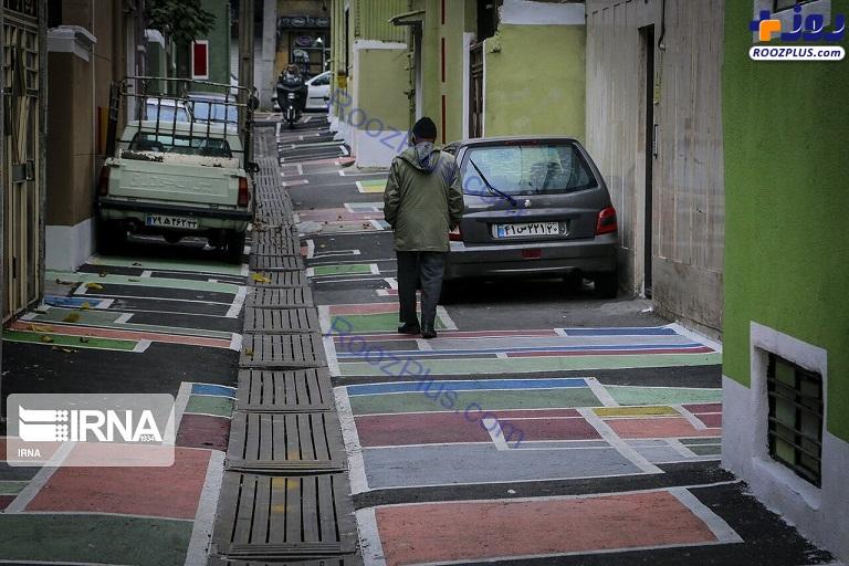 کوچه خاص و رنگی در تهران +عکس
