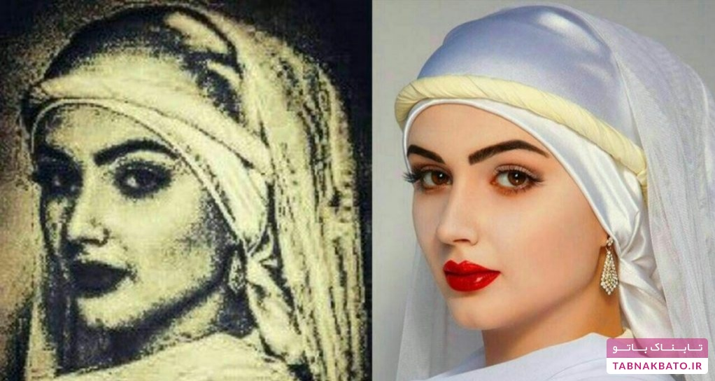مدل لباس روسی که با زلیخای مصر باستان اشتباه گرفته شد